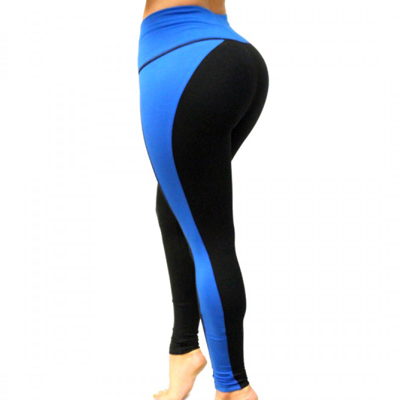 Royal Blue & Black Leggings By Bon Bon Up 1067