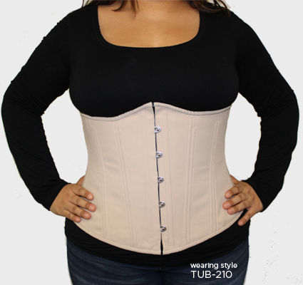 Steel-boned corset shaping Examples